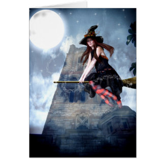 Witch on a Broom (Card) Card