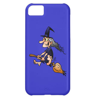 Witch on a broom cover for iPhone 5C