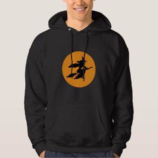 Witch on a Broom Hoodie