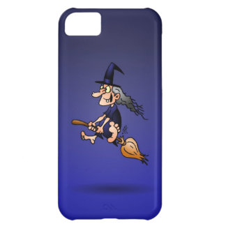 Witch on a broom iPhone 5C cover