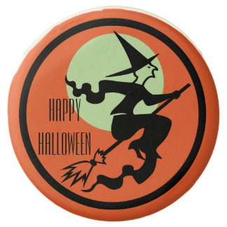 Witch on a Broom Trick or Treat Chocolate Dipped Oreo