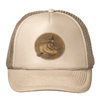 Witch on a Broom Trucker Hat