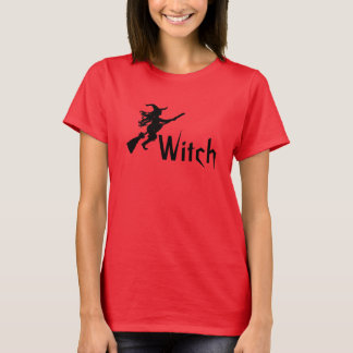 Witch on a Broom Witch Shirt