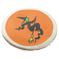 Witch On A Broomstick Halloween Party Treat Sugar Cookie