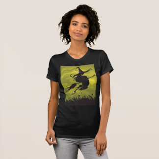 Witch On A Broomstick Womens T-Shirt