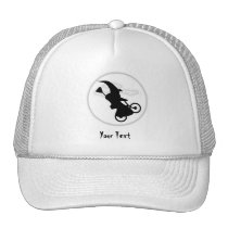 witch on a cycle trucker hat