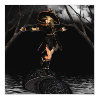 Witch on a Toad Stool Invitations