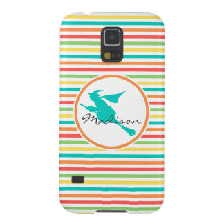 Witch on Bright Rainbow Stripes Case For Galaxy S5