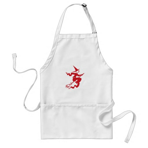 Witch on Broom Apron