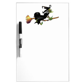 Witch On Broom Dry-Erase Whiteboards