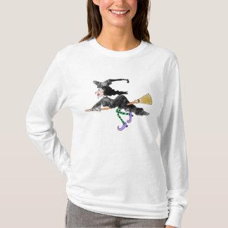 Witch On Broom Halloween Shirt