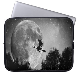 Witch on Broom Laptop Computer Sleeve