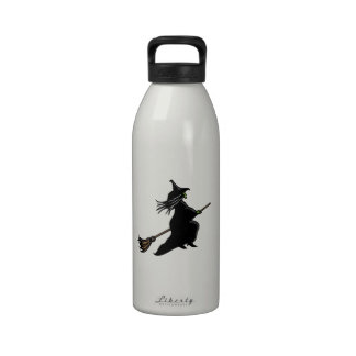 Witch On Broom Drinking Bottles