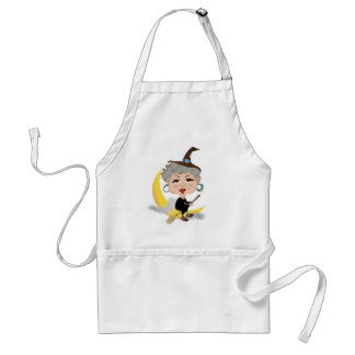 Witch On Broomstick Adult Apron