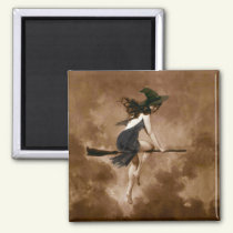 Witch on Broomstick Magnet