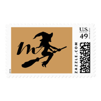 Witch On Broomstick Postage