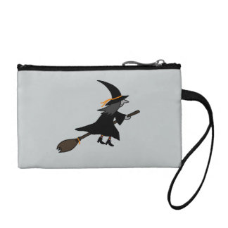 Witch On Her Broom Coin Purse