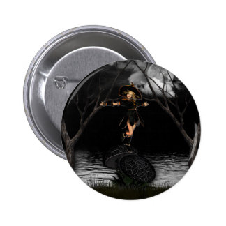 Witch on Toad Stool Pin