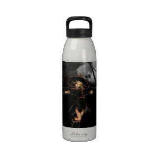 Witch on Toad Stool Water Bottle
