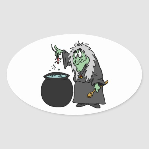 Witch Oval Sticker