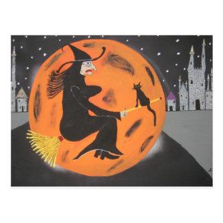 Witch Over Disneyland Postcard