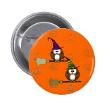 witch owl buttons