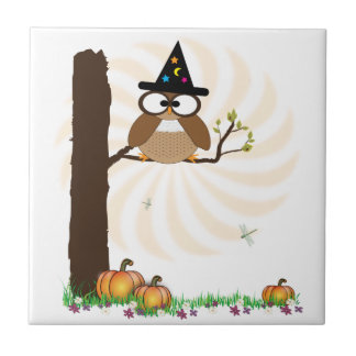 Witch Owl Halloween Tile