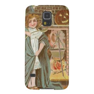 Witch Owl Jack O Lantern Fireplace Galaxy S5 Case