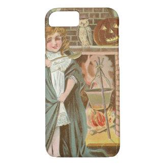 Witch Owl Jack O Lantern Fireplace iPhone 7 Case