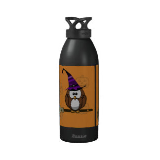 witch owl reusable water bottle