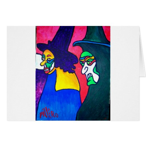 Witch Parade by Piliero Greeting Cards