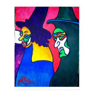 Witch Parade by Piliero Postcard