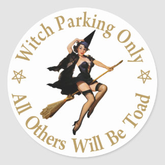 Witch Parking Only - All Others Will Be Toad! Stickers