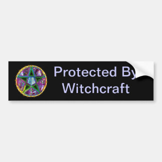 Witch Pentagram Bumper Sticker