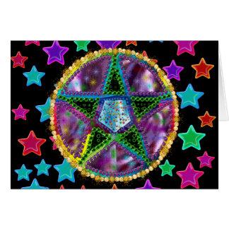 Witch Pentagram Card