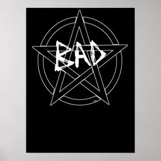 witch Pentagram dark halloween bad star black Poster