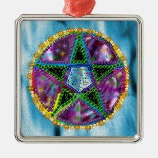 Witch Pentagram Metal Ornament