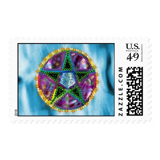 Witch Pentagram Postage Stamps