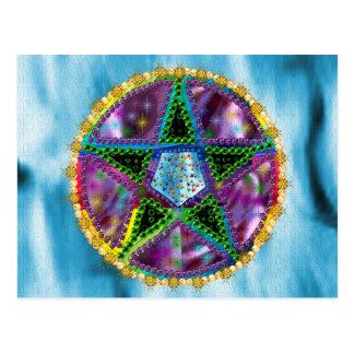 Witch Pentagram Postcard
