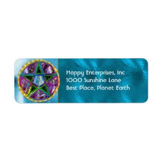 Witch Pentagram Return Address Label