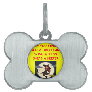 witch pet name tag