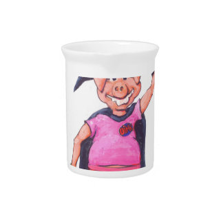 Witch Pig Drink Pitcher