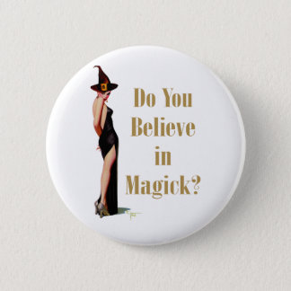 Witch Pinback Button