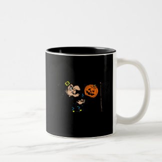Witch playing pumpkin volley ball coffee mug