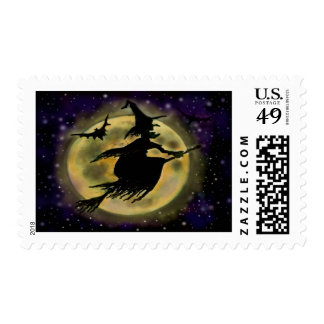 Witch Postage Stamps