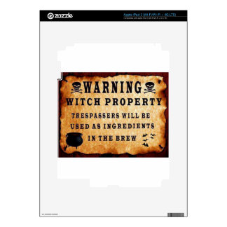 Witch Property Decal For iPad 3
