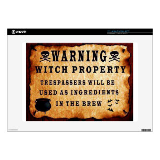Witch Property Laptop Decal