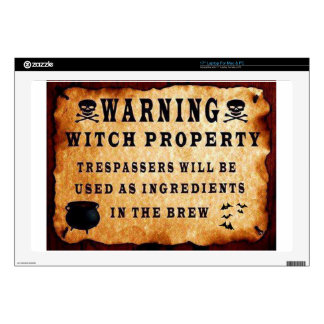 Witch Property Laptop Decals