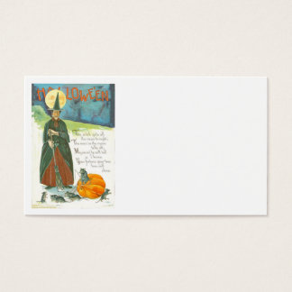 Witch Pumpkin Broom Man In The Moon Mouse Business Card