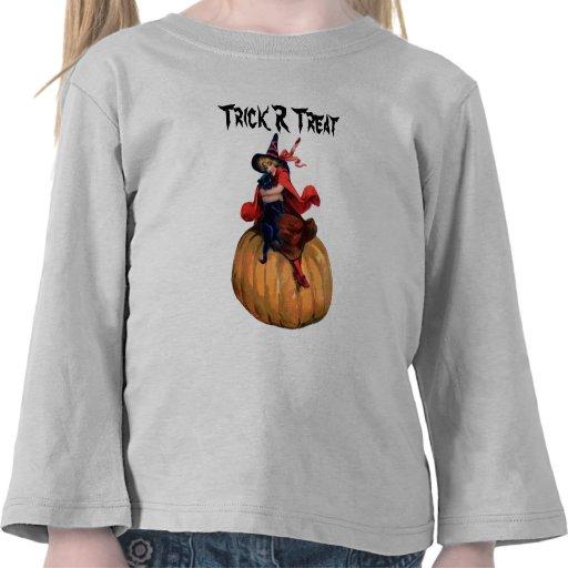 Witch Pumpkin Cat Halloween Shirt